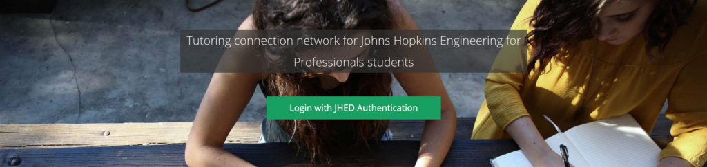 login with jhed to tutor